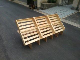 マルシェ用の傾斜台6箱用x1 + 木箱Sx6 セット