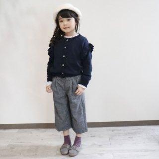 ウール混裏マシュマロワイドパンツ / C7193 / 100cm-140cm