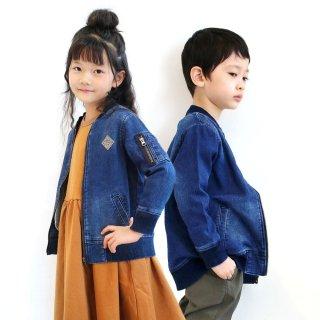ニット風デニムMA-1ジャケット / C5640・C5640S / 100cm-160cm