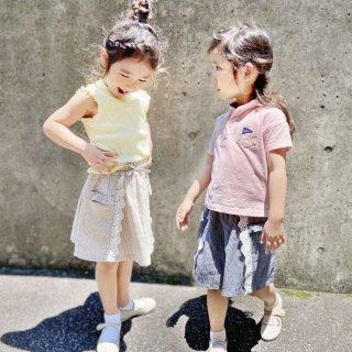 先染めストライプ切替スカート / C7060 / 90cm-140cm