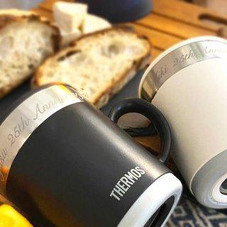 【名入れ】サーモス保温保冷マグカップ350ml -贈り物・プレゼントに最適な蓋つきのおしゃれな真空断熱THERMOSタンブラー