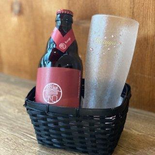 父の日|きらめく名入れビアグラス&クラフトビールセット【KAGUA】
