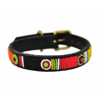 Kenyan Collection 12インチ 小型犬 革首輪 【Circle of Life】ケニアンコレクション