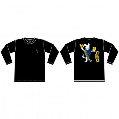 ロングスリーブTシャツ - MOUSE(ブラック)