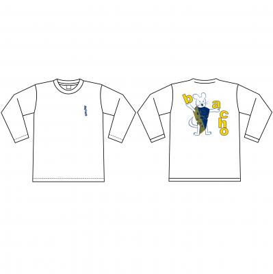 ロングスリーブTシャツ - MOUSE(ホワイト)