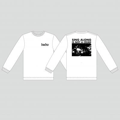 ロングスリーブTシャツ - SINGALONG(ホワイト)