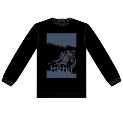 ロングスリーブTシャツ - 靴(ブラック)