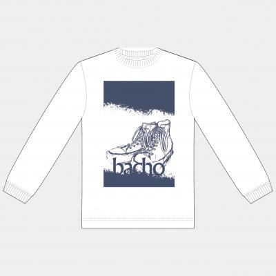 ロングスリーブTシャツ - 靴(ホワイト)