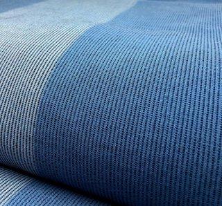 ちぢみ織り4列ストライプブルーブルー
