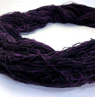 括り糸2度染 紫