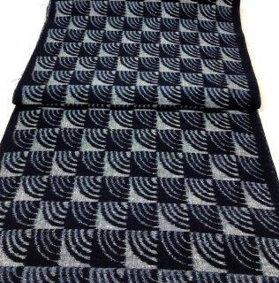 藍染め手織り青海波濃紺