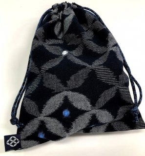 巾着(小)七宝菱形紺