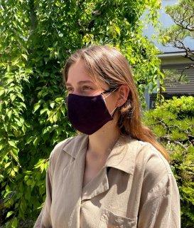 絣マスク(2本合糸なす紺)