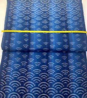 青海波ぼかし縞ブルー