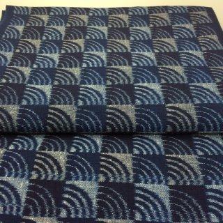 手織り 青海波