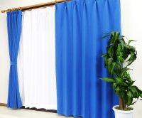 オーダーカーテン 通販 防炎 激安 遮光1級カーテン [ピティ] ブリリアントブルー