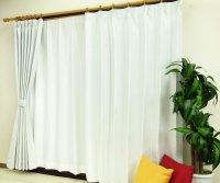 オーダーカーテン 通販 ミラーで太陽光を反射 遮熱遮光カーテン ムース ホワイト色