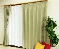 オーダーカーテン 通販 ミラーで太陽光を反射 遮熱遮光カーテン ムース ベージュ色