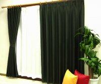 オーダーカーテン 通販 ミラーで太陽光を反射 遮熱遮光カーテン ムース ブラック色