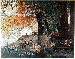 SCENE OF RIVER  セーヌ川にて(レイニーディ�)