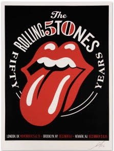 OBEY ROLLING STONES 50TH ANNIVERSARY TOUR POSTER SHEPARD FAIREY NY LONDON JERSEY