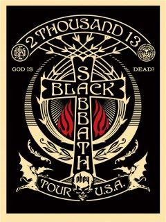 Black Sabbath Cross (Red/Black)