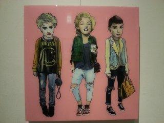 Madonna, Marilyn Monroe, Audrey Hepburn