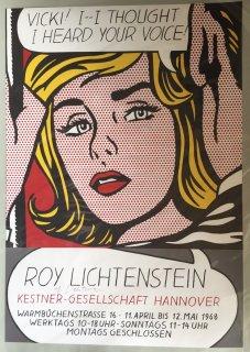 Roy Lichtenstein  ドイツ ハノバー 個展ポスター