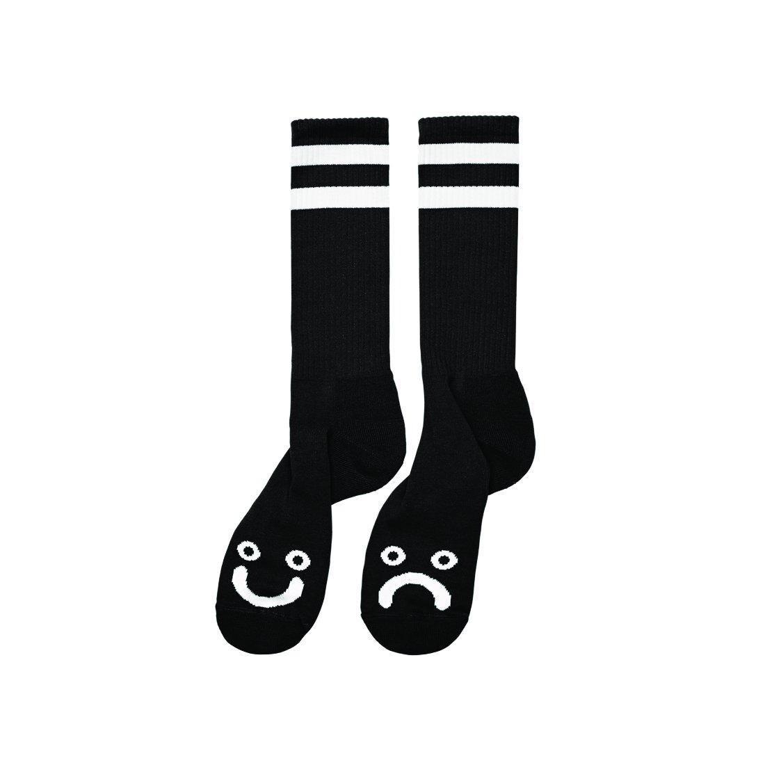 【POLAR SKATE CO.】Happy sad socks - Black Long