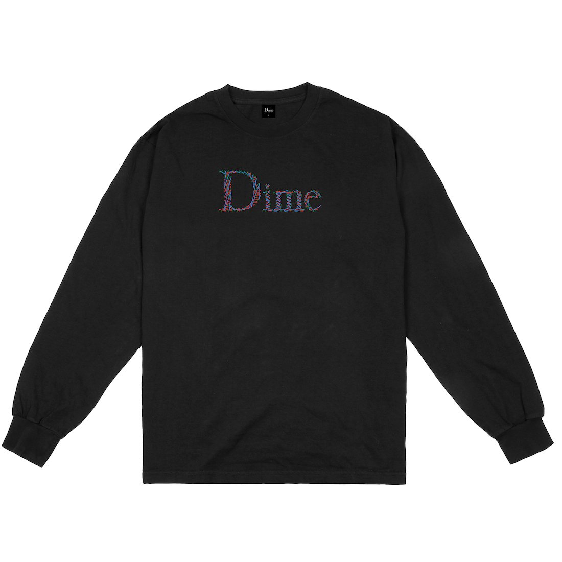 【Dime】Scribble Classic Logo L/S Tee - Black