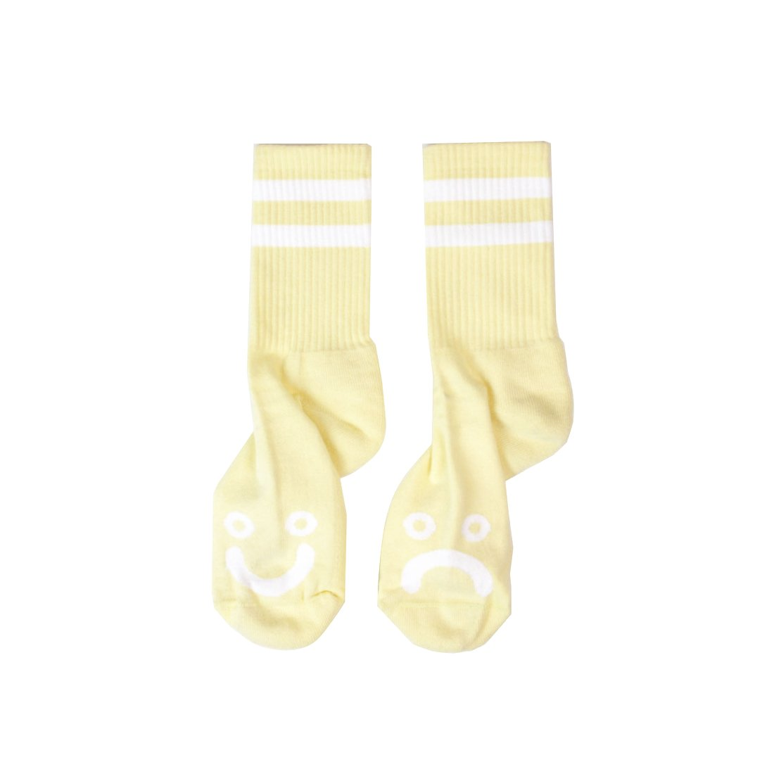 【POLAR SKATE CO.】Happy sad socks - Light Yellow