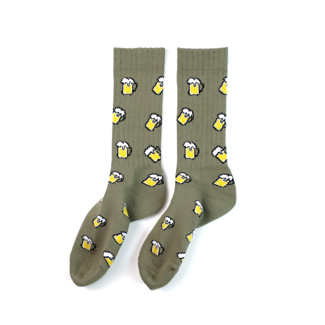 【Easy Miss × Ching & Co】Beer Socks - Moss Green