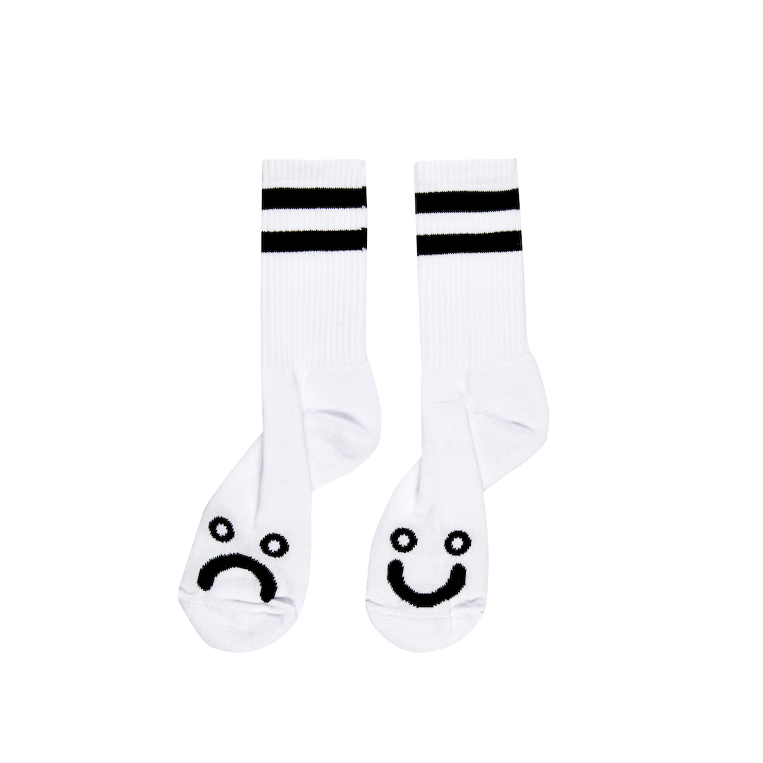 【POLAR SKATE CO.】Happy sad socks - White