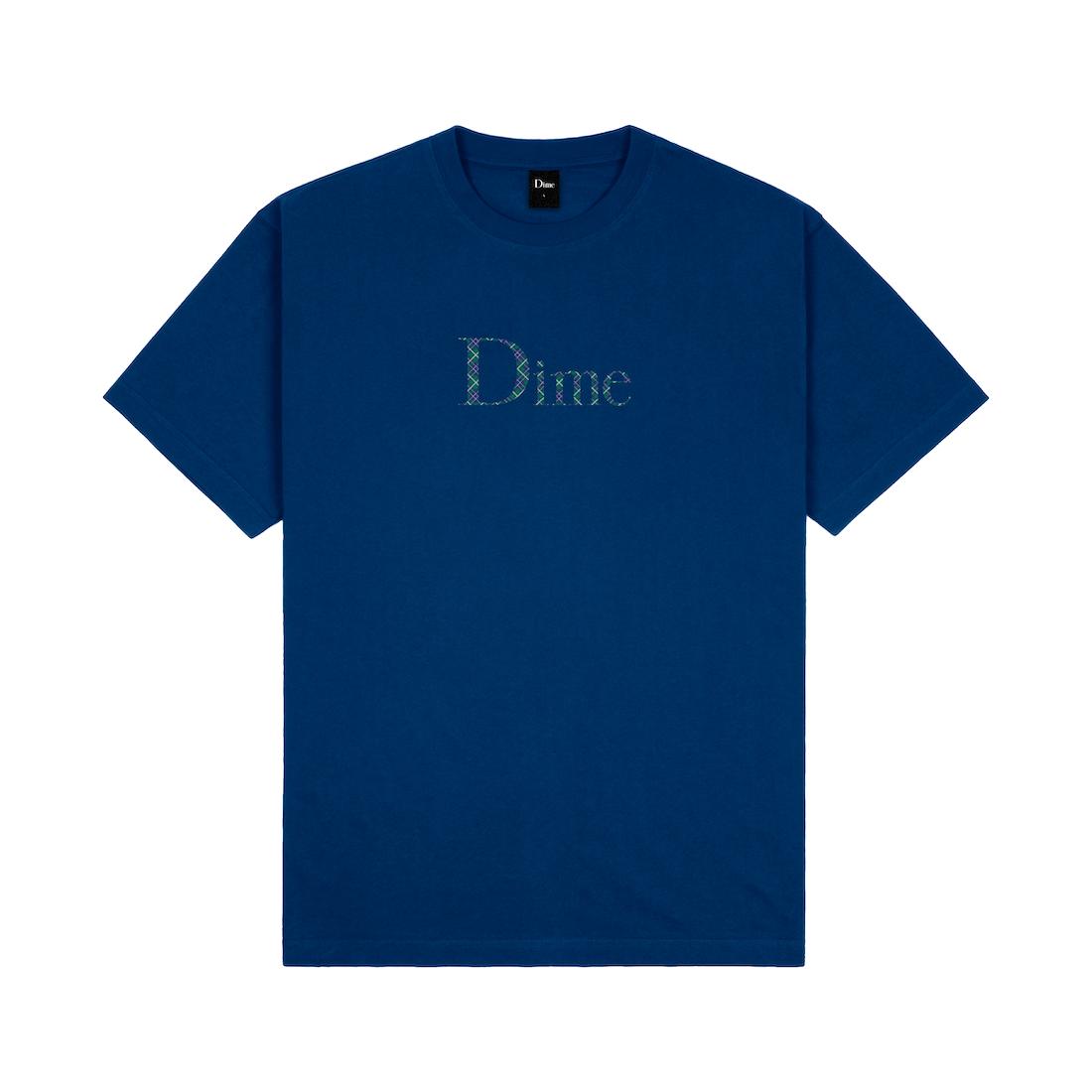 【Dime】Classic Plaid Tee - Navy
