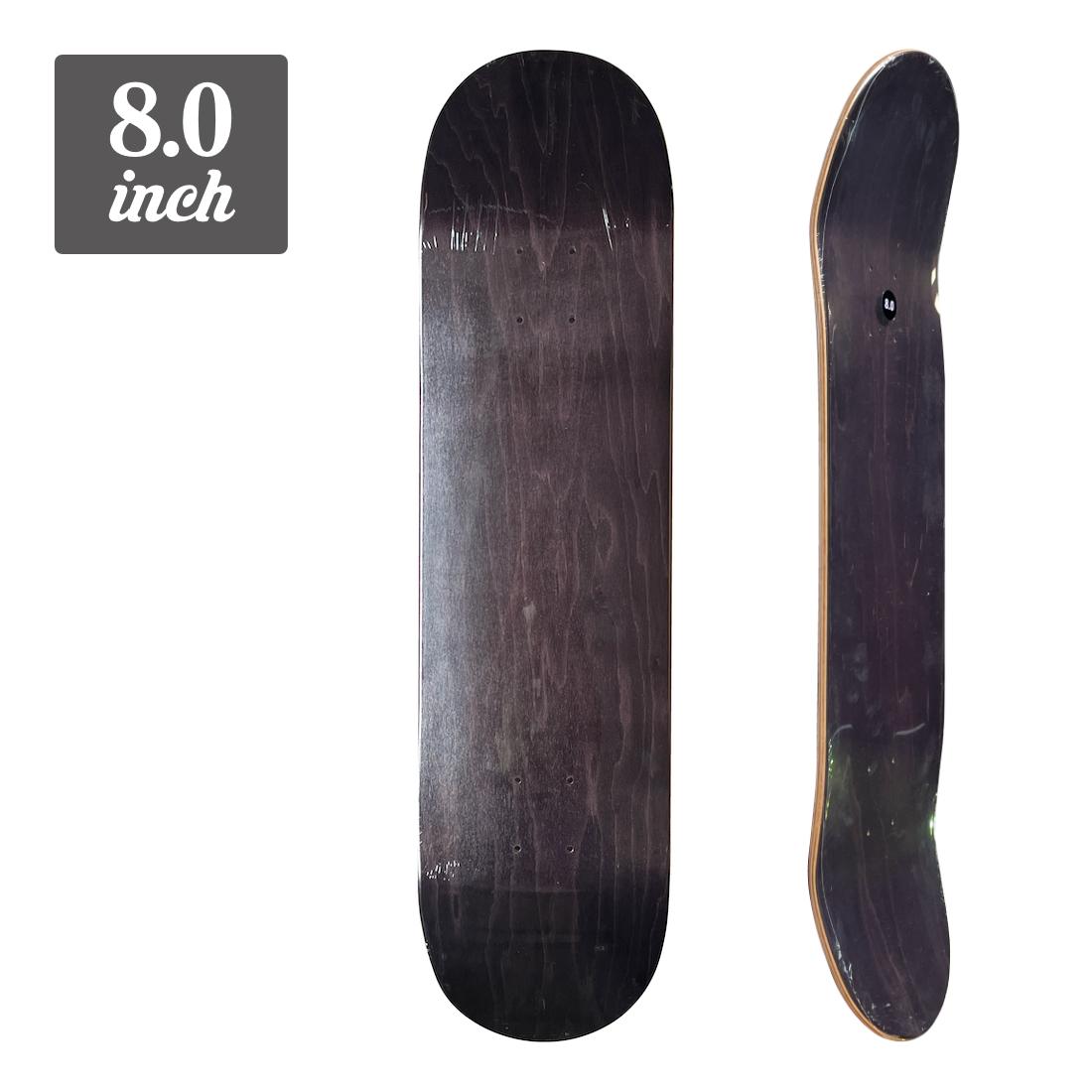 【8.0】Blank Deck - Black/Black