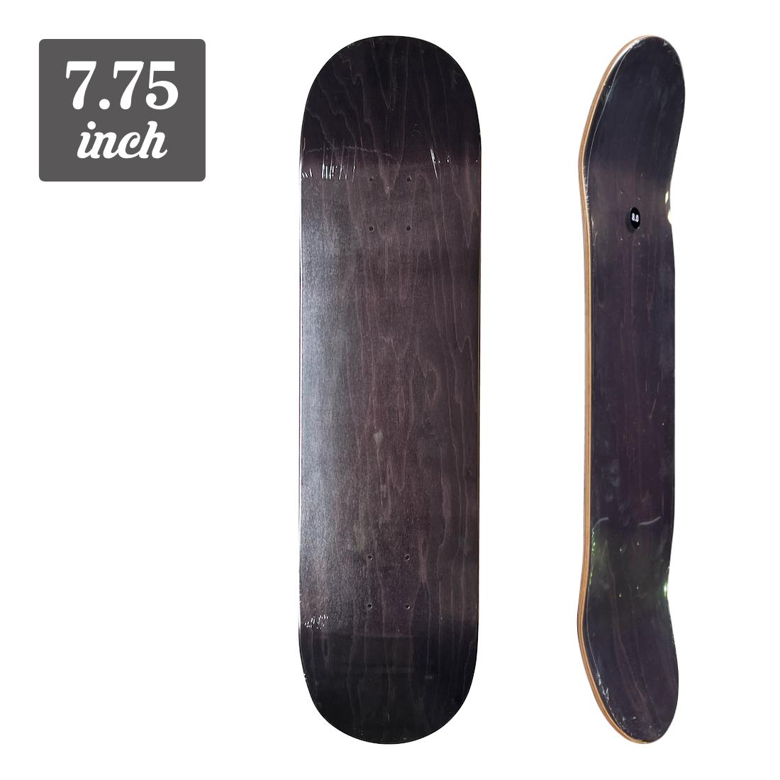 【7.75】Blank Deck - Black/Black