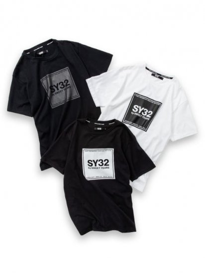 <img class='new_mark_img1' src='https://img.shop-pro.jp/img/new/icons55.gif' style='border:none;display:inline;margin:0px;padding:0px;width:auto;' />【SY32】SQUARE LOGO TEE