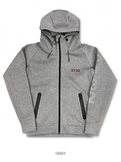 <img class='new_mark_img1' src='https://img.shop-pro.jp/img/new/icons33.gif' style='border:none;display:inline;margin:0px;padding:0px;width:auto;' />【SY32】DOUBLE KNIT EMBOSS HOODIE