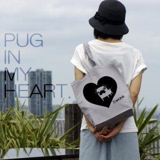 PUG in My Heart トートバッグ /2color