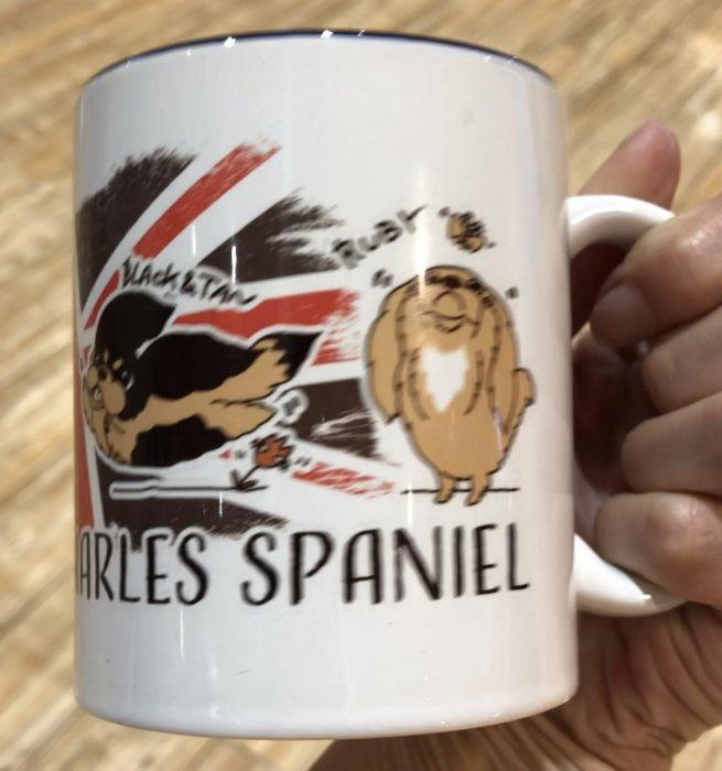 キャバリアユニオンジャックのマグカップ