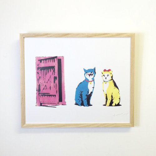 < kurry > Suddenly one morning -Blue and Yellow cats-