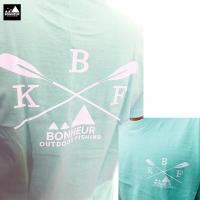 【BONHEUR】 KAYAK ROGO ライトグリーン T-SHIRT