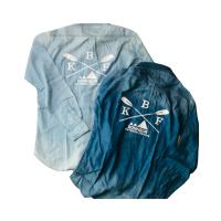 デニムシャツ ブルー/サックス