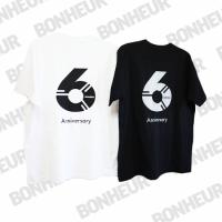 BONHEUR<br>予約商品anniversary 6GIRA glitter rogoT/White Black rogo