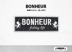 【BONHEUR】 ワッペン Black×white
