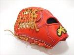 野球 ブランドA BrandA 硬式グラブ 外野手用 808AJ801 左投用 レッドオレンジ