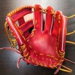 野球 BrandA ブランドA 硬式グラブ 内野手用 907AJ005 ジュテルレザー 日本製 サイズ約28.3cm 刺繍入り 型付け済