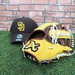 野球 アトムズ ATOMS 軟式仕様グラブ 内野手用 カタログ外 AWS-15 イエロー×チョコ 帽子プレゼント付き