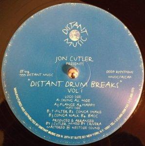 Jon Cutler / Distant Drum Breaks Vol. 1 (12