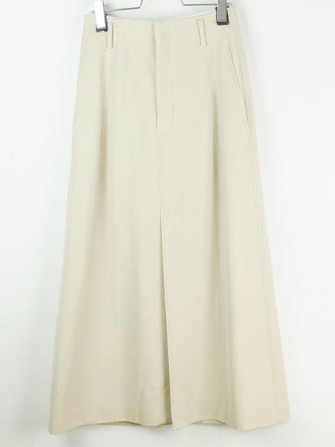 19SS ウールコットン ロングトラペーズスカート